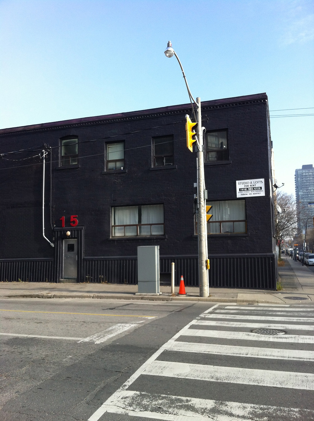 I moved to 15 Lower Sherbourne sometime in December 2011