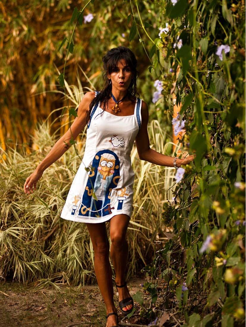 Vestido blanco by Martavalbuena.com , la moda para mujer diferente