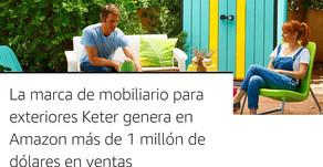La marca de mobiliario para exteriores Keter genera en Amazon más de 1 millón de dólares en ventas
