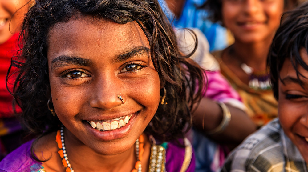 Be Grateful: Indian girl smiling