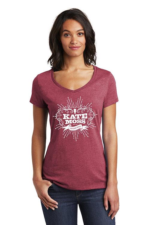 Kate Moss Ladies' Logo Tee V-Neck