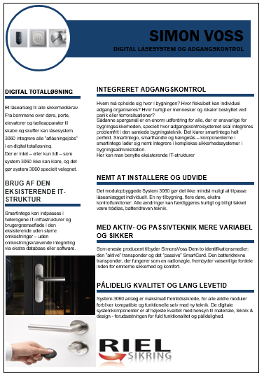 Simon Voss automatisk dørsystem