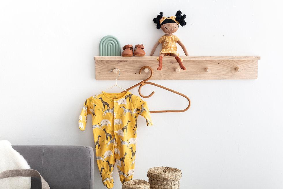 Peg Rail with Shelf by AutumnsCorner.com - Nursery Decor - Kids Room - Scandi Nursery - Co... Di.jpg