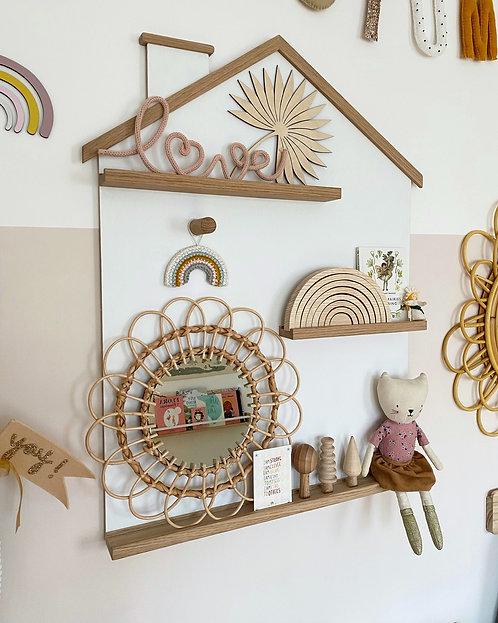 House Shelf with Solid Oak Ledges & Trim
