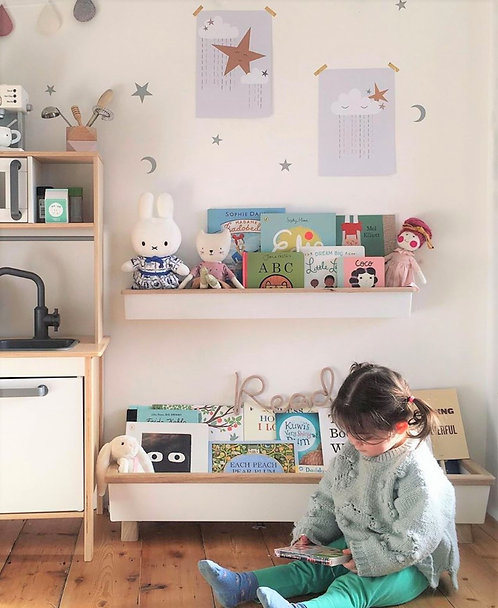 Book Trough Wall Shelf