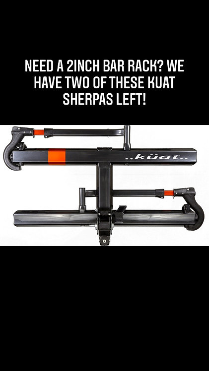 Kuat Sherpa for 2 bikes - 2 inch hitch rack