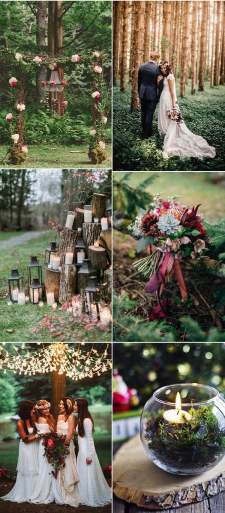 Forest wedding ideas and photography