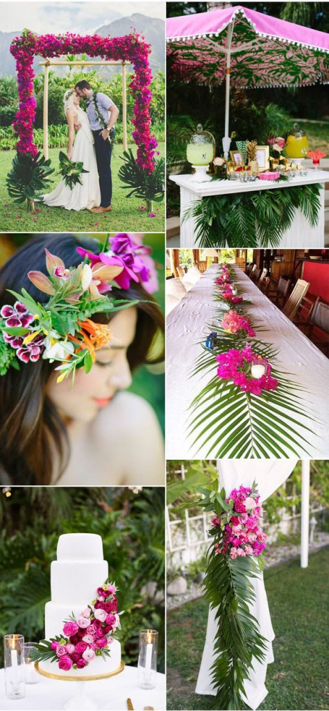 Tropical wedding ideasn and photos