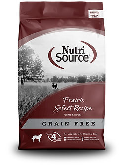 NUTRISOURCE GRAIN FREE PRAIRIE SELECT 30LB