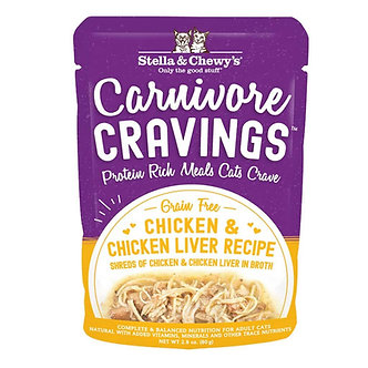 STELLA & CHEWY'S CAT CARNIVORE CRAVINGS CHICKEN & LIVER