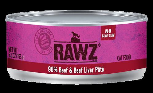 RAWZ CAT BEEF & BEEF LIVER PATE'