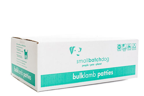 SMALL BATCH FROZEN LAMB PATTIES BULK BOX 18LB
