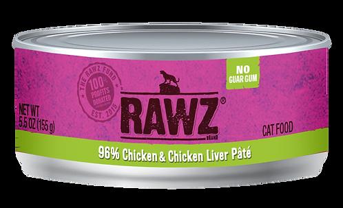 RAWZ CAT CHICKEN & CHICKEN LIVER PATE'