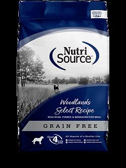 NUTRISOURCE GRAIN FREE WOODLANDS SELECT 30LB