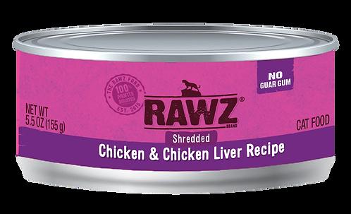 RAWZ CAT SHREDDED CHICKEN & LIVER RECIPE 3OZ