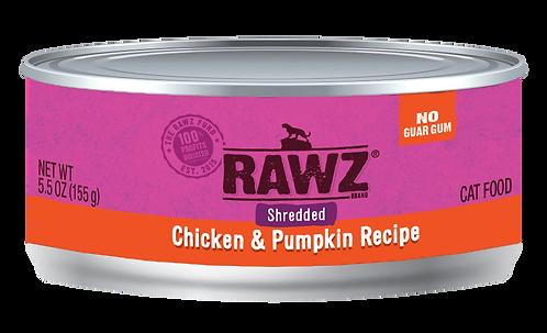 RAWZ CAT SHREDDED CHICKEN & PUMPKIN RECIPE 3OZ
