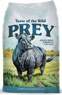 TASTE OF THE WILD PREY ANGUS BEEF FORMULA FOR DOGS 25LB