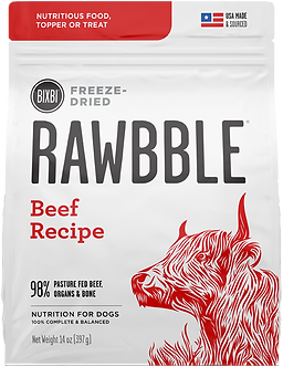 BIXBI FREEZE DRIED RAWBBLE BEEF RECIPE