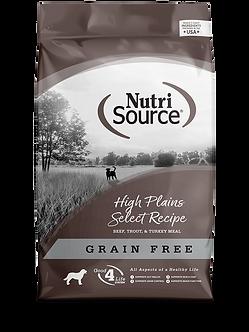 NUTRISOURCE GRAIN FREE HIGH PLAINS SELECT 30LB