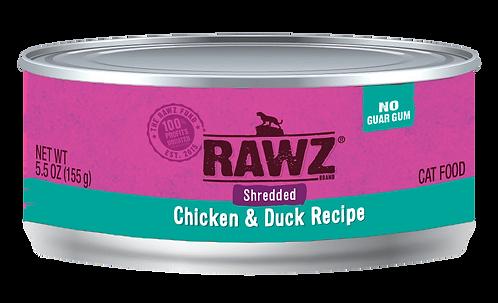RAWZ CAT SHREDDED CHICKEN & DUCK RECIPE 3OZ