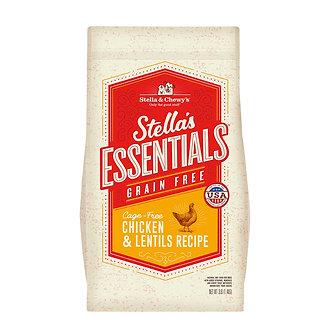 STELLA & CHEWY'S ESSENTIALS CAGE FREE CHICKEN & LENTILS