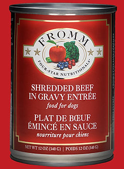 FROMM 4 STAR SHREDDED BEEF CAN 12OZ