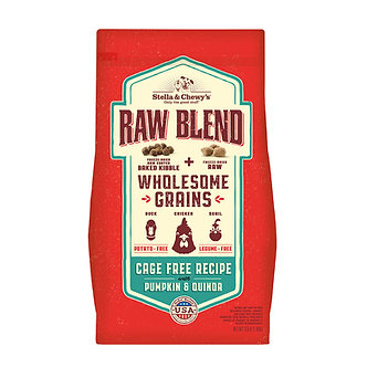 STELLA & CHEWY'S WHOLESOME GRAIN RAW BLEND CAGE FREE