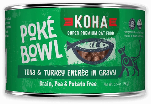 KOHA CAT POKE BOWL TUNA & TURKEY