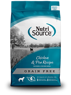 NUTRISOURCE GRAIN FREE CHICKEN & PEA 30LB