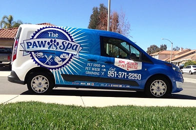 The Paw Spa Pet grooming Shuttle Van