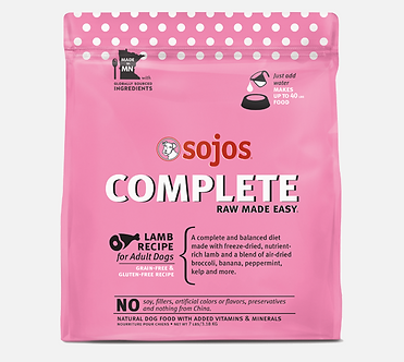 SOJOS COMPLETE FREEZE DRIED LAMB