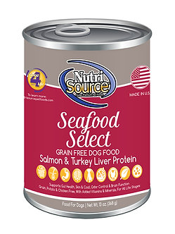 NUTRISOURCE GRAIN FREE SEAFOOD SELECT CAN 13OZ