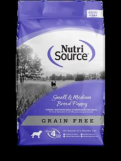 NUTRISOURCE GRAIN FREE SMALL & MEDIUM BREED PUPPY