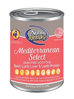 NUTRISOURCE GRAIN FREE MEDITERRANEAN SELECT CAN 13OZ