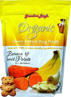 GRANDMA LUCYS ORGANIC BANANA/SWT POTATO TREATS 14OZ