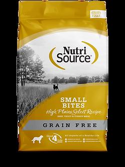 NUTRISOURCE GRAIN FREE SMALL BITES HIGH PLAINS SELECT