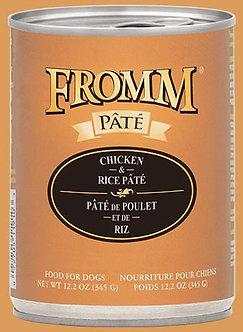 FROMM GF CHICKEN & RICE PATE' 12.2OZ