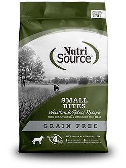 NUTRISOURCE GRAIN FREE SMALL BITES WOODLANDS SELECT