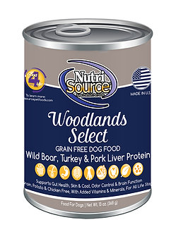 NUTRISOURCE GF WOODLANDS SELECT CAN 13OZ