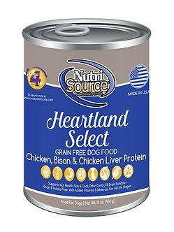 NUTRISOURCE GRAIN FREE HEARTLAND SELECT CAN 13OZ