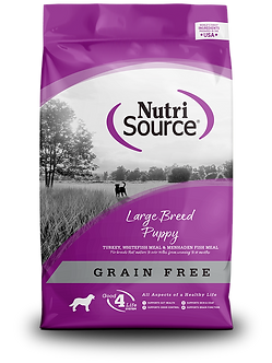 NUTRISOURCE GRAIN FREE LARGE BREED PUPPY 30LB