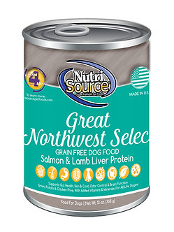 NUTRISOURCE GRAIN FREE GREAT NW SELECT CAN 13OZ