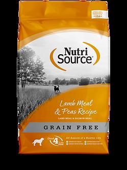 NUTRISOURCE GRAIN FREE LAMB MEAL & PEAS