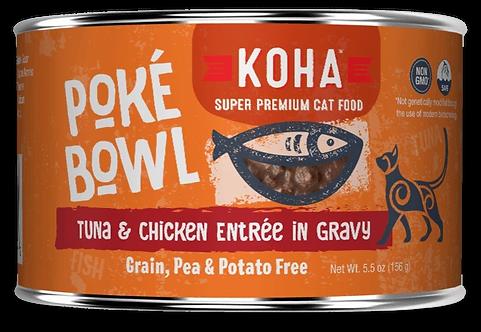 KOHA CAT POKE BOWL TUNA & CHICKEN