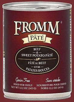 FROMM GF BEEF & SWEET POTATO PATE' 12.2OZ