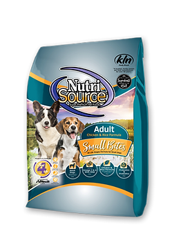 NUTRISOURCE SMALL BITES ADULT CHICKEN & RICE