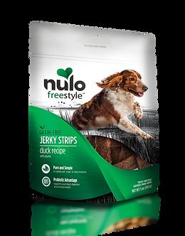 NULO GRAIN FREE JERKY STRIPS DUCK W/PLUMS