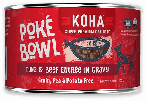KOHA CAT POKE BOWL TUNA & BEEF