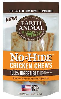"EARTH ANIMAL NO HIDE CHICKEN CHEW 4"" 2PK"