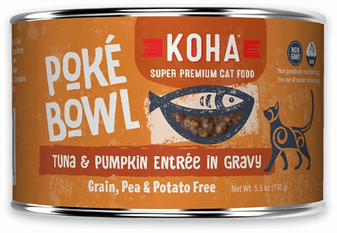 KOHA CAT POKE BOWL TUNA & PUMPKIN